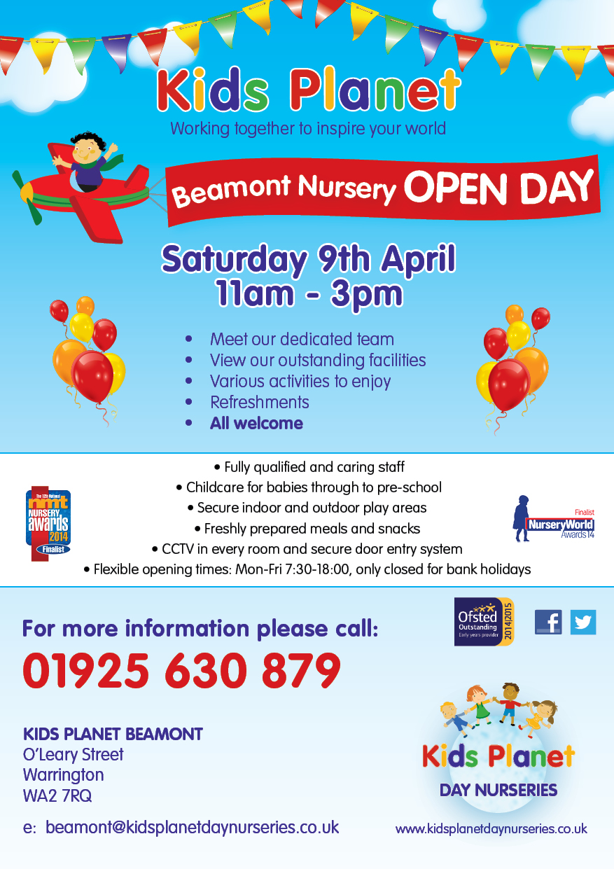 Kids Planet Beamont Open Day 9 April 2016