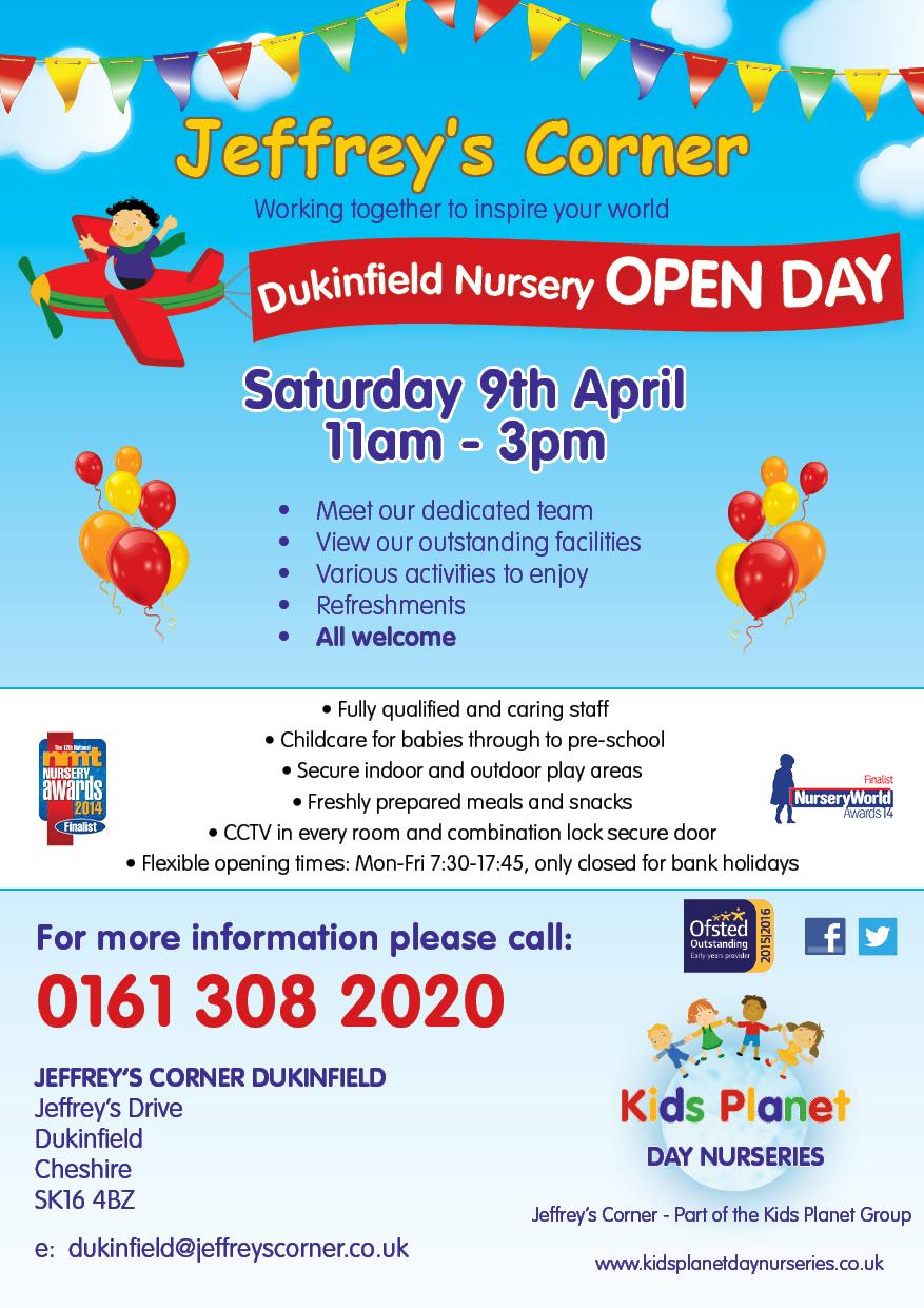 Jeffrey's Corner Dukinfield Open Day 9 April 2016