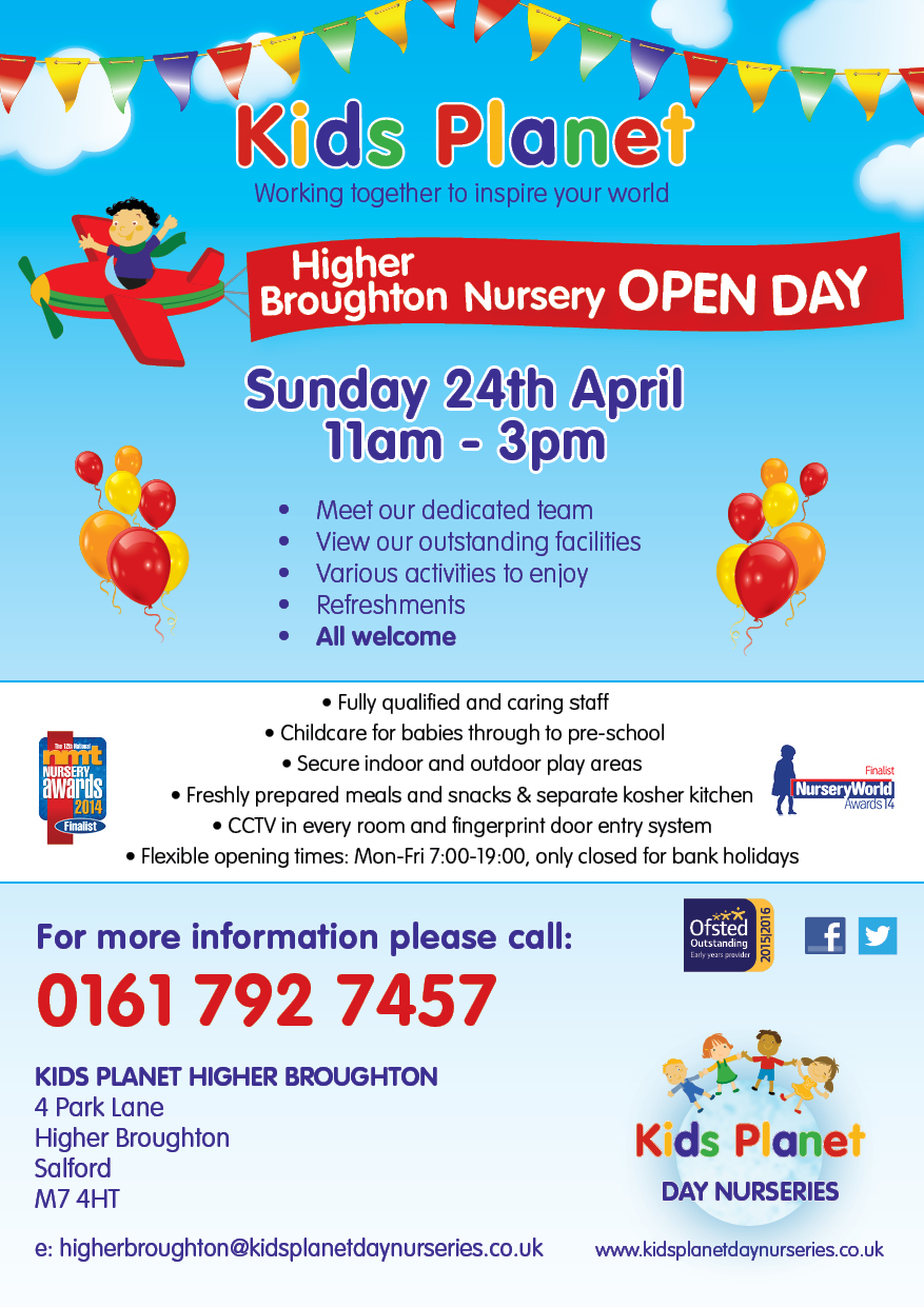 Kids Planet Higher Broughton Open Day 24 April 2016