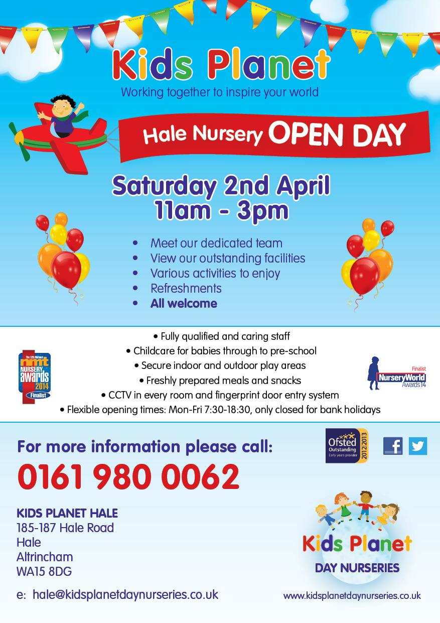 Kids Planet Hale Open Day 2 April 2016
