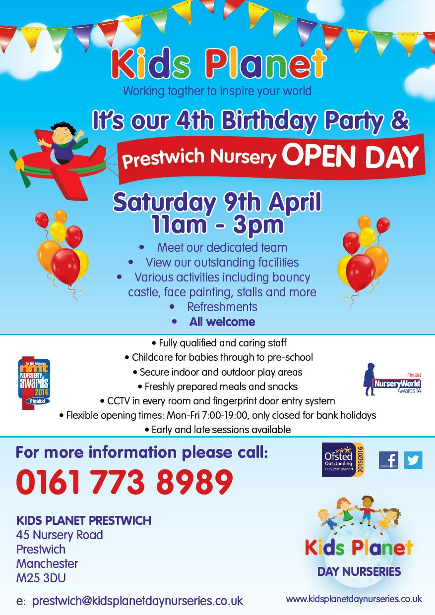 Kids Planet Prestwich Open Day 9 April 2016