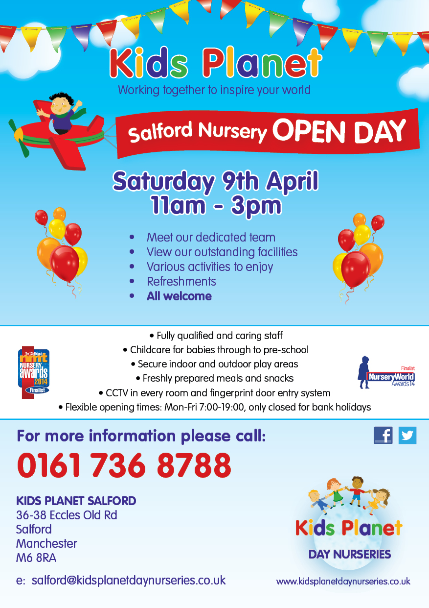 Kids Planet Salford Open Day 9 April 2016