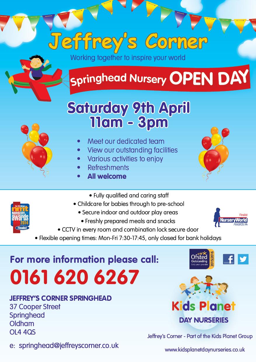 Jeffrey's Corner Springhead Open Day 9 April 2016