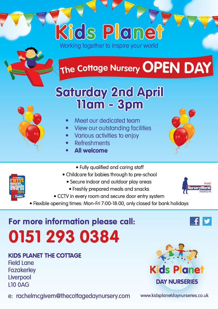 Kids Planet The Cottage Open Day 2 April 2016
