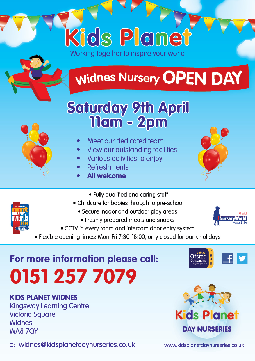Kids Planet Widnes Open Day 9 April 2016